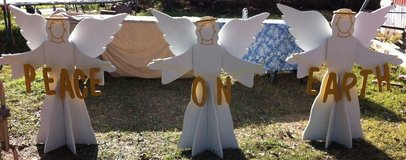 3d Christmas PEACE ON EARTH ANGEL'S (SET OF 3) Yard Decor in Alexandria, Louisiana