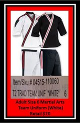Adult Martial Arts Team Uniform in Lawton, Oklahoma
