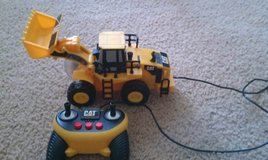 CAT RC digger in Fort Hood, Texas