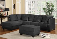 ALL BLACK SECTIONAL $399 FREE OTTOMAN in Riverside, California