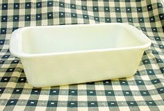 VINTAGE PYREX #213 OPAL WHITE LOAF PAN 1-1/2 QT in St. Charles, Illinois
