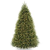 BEAUTIFUL CHRISTMAS TREE - 9.5 FEET TALL WITH CLEAR LIGHTS in Oswego, Illinois