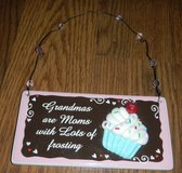 Ganz Ceramic Sign Grandmas Are Moms W/ Lots Of Frosting in Kingwood, Texas