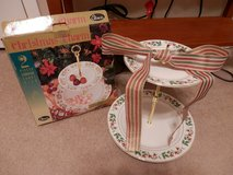 2 piece Stoneware Candy Dish  Christmas in Fort Riley, Kansas
